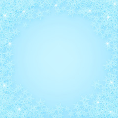 Snowing winter holiday background. Vector Christmas or New Year background with snowflakes.
