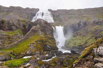 Beautiful Dynjandi Waterfall in Iceland.