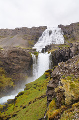 Beautiful Dynjandi Waterfall in Iceland.