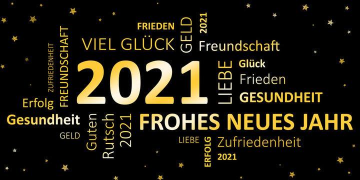 Glückwunschkarte Silvester 2021 - Guten Rutsch und ein frohes neues Jahr