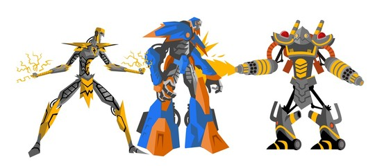 three battle robots