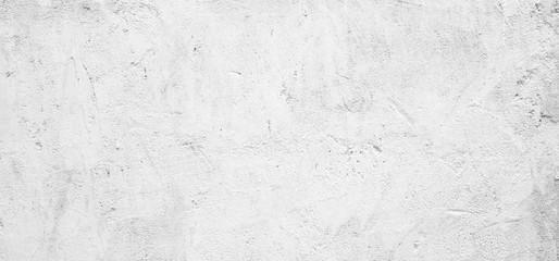 Blank grunge white cement wall texture background, interior design background, banner