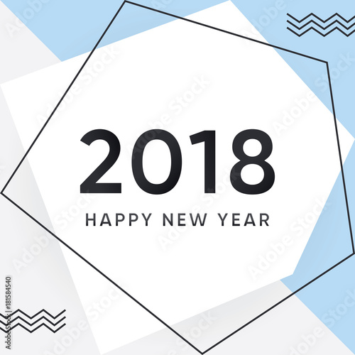 vector 2018 happy new year card and background new year minimal and modern design