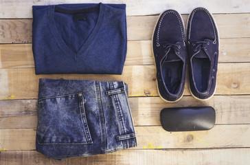 blue color set of arabic mans fashion