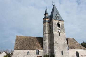 église de La Chaussée d'Ivry dans l'Eure-et-Loir en france