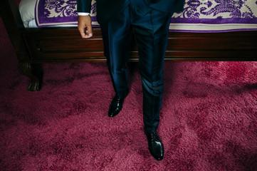 Crop stylish man in elegant suit