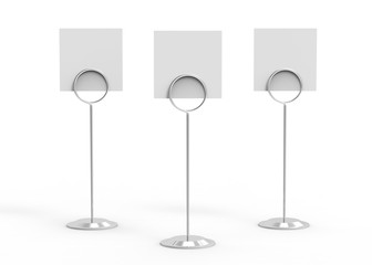 Card holder on isolated white background,3d illustration