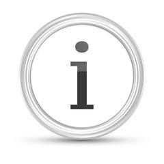 Weißer Button - Information - Beratung