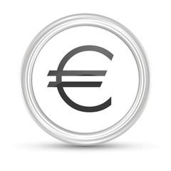 Weißer Button - Euro Zeichen