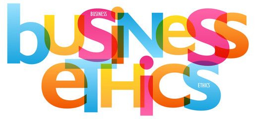 BUSINESS ETHICS Vector Letters Icon