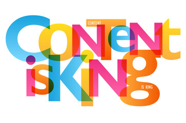 CONTENT IS KING Vector Letters Icon