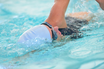 swimmer doing a lap