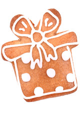 present as christmas gingerbread isolated