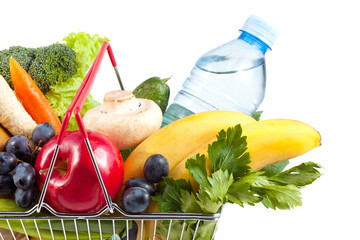Shopping Cart with Perfect Healthy Food