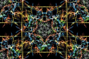 Abstract kaleidoscope background. Seamless texture