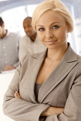 Closeup portrait of confident businesswoman