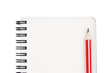 Tod do list with red pencil isolated on white background