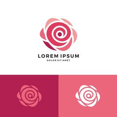 red rose logo vector icon flower download