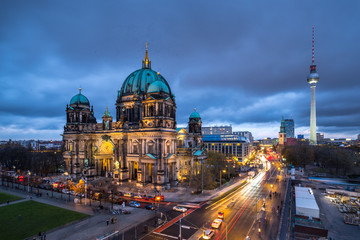 Poster Berlin The Cathedral of Berlin at dawn, Germany