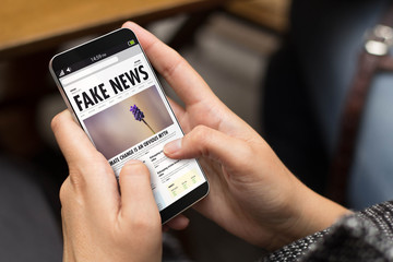street girl cool modern fake news online