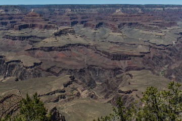 View at the Southern Rim of the Grand Canyon in Phoenix, United States of America