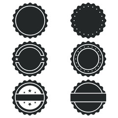 Vector Stamp without text. Set of Stamps. Post Stamp Collection. Vector Stamps . Circle Stamps.