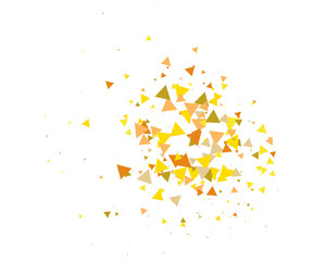 Sun Burst, Star Explosion Vector Background. Broken Glass, Moving Particles Textured Blast, Flash. Futuristic Cosmic Star Explosion, Sun Burst, Grunge Galaxy Fragments. Falling Triangles, Bang, Boom