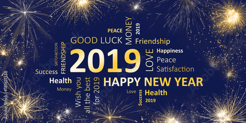 quot happy new year 2019 greeting card quot and royalty free images fotolia com