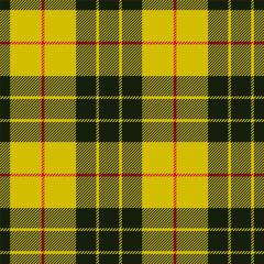 Scottish plaid, black bands on yellow. MacLeod tartan seamless pattern