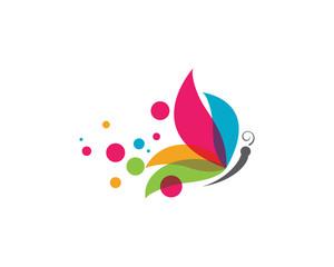 Beauty Butterfly Logo Template Vector