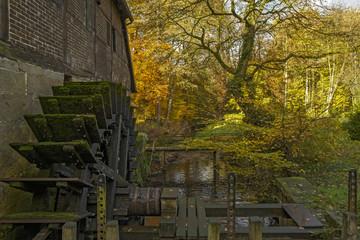 Spoed Fotobehang Molens Wassermühle Welbergen