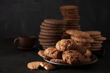Various cookies in plate
