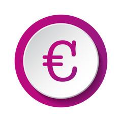 Euro symbol - 3d icon. Vector.