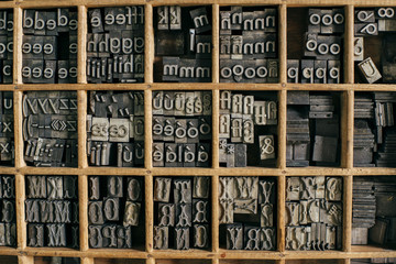 Arranged printing letters