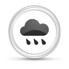 Weißer Button - Regenwolke