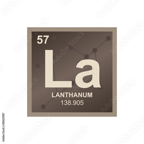 Vector Symbol Of Lanthanum From The Periodic Table Of The Elements
