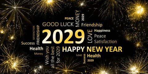 Happy new Year 2029 Glückwunschkarte für Silvester