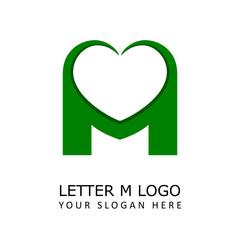 Letter M Love Logo