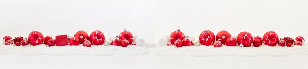 Weihnachten Dekoration als Panorama