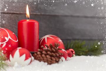 Weihnachten Hintergrund mit brennender Kerze