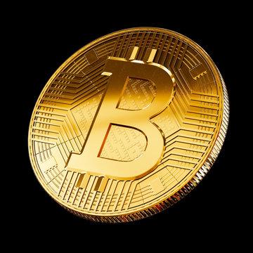 Bitcoin coin symbol visualization