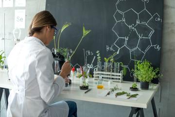 Biologist in her laboratory
