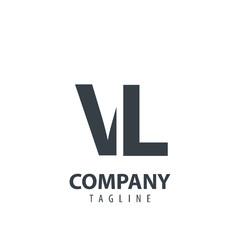 Initial Letter VL Design Logo