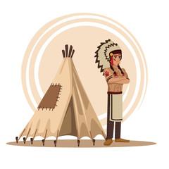 American indians cartoon