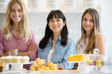 Bakery owners, portrait