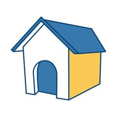 Dog house isolated
