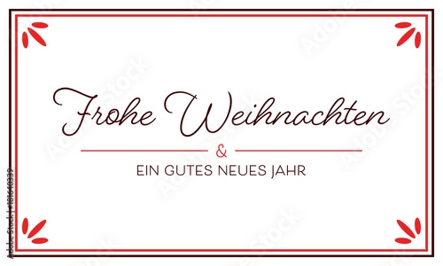 gru karte frohe weihnachten schrift rot stock. Black Bedroom Furniture Sets. Home Design Ideas
