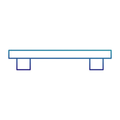 Isolated furniture design
