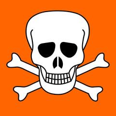 Symbole toxique tête de mort pictogramme