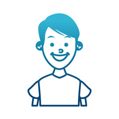 Boy smiling profile icon vector illustration graphic design